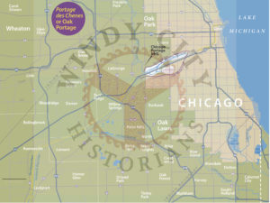 Map of the Northern Portage Route © Windy City Historians