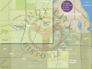 Map of the Southern Portage Route © Windy City Historians